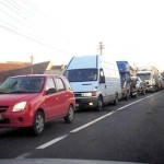 Trafic ingreunat pe Dealul Negru