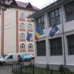 Liceul din Horezu, in frig