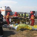 Simulare de accident rutier pe Valea Oltului
