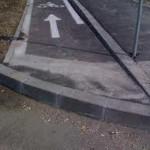 Pista pentru biciclisti, de mantuiala