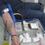 Jandarmii au donat sange pentru colegul lor accidentat