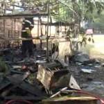 Rulota arsa la Dragasani din cauza unui scurtcircuit