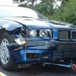 BMW furat, avariat si abandonat