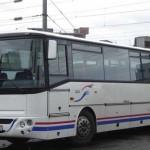 Autobuz cu numere false de inmatriculare